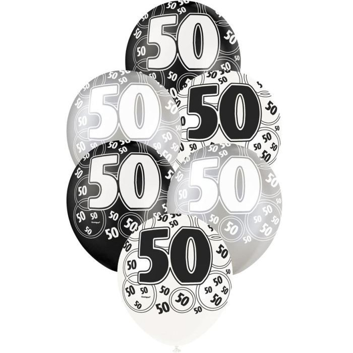6 ballons anniversaire 50 ans achat vente ballon d coratif soldes d s le 27 juin cdiscount. Black Bedroom Furniture Sets. Home Design Ideas