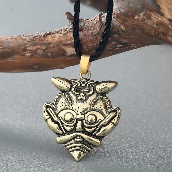 SAUTOIR ET COLLIER  Le masque de Loki Pendentif Masque de Odin Amulet