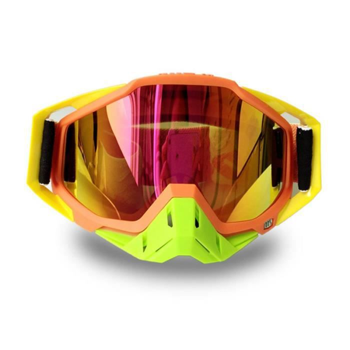 LUNETTES - MASQUE Windproof Lunettes Moto Racing Lunettes antipoussi