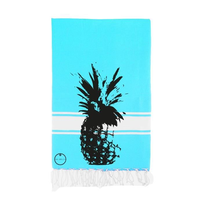 fouta serviette de plage ananas achat vente serviette de plage cdiscount. Black Bedroom Furniture Sets. Home Design Ideas