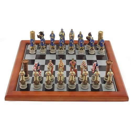 jeu d 39 echecs en resine croises vs arabes 39x3 achat vente jeu soci t plateau cdiscount. Black Bedroom Furniture Sets. Home Design Ideas