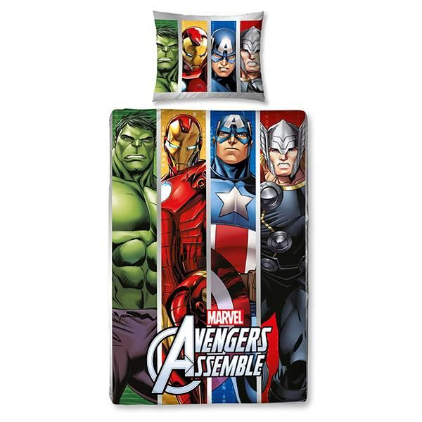 housse de couette avengers team achat vente housse. Black Bedroom Furniture Sets. Home Design Ideas