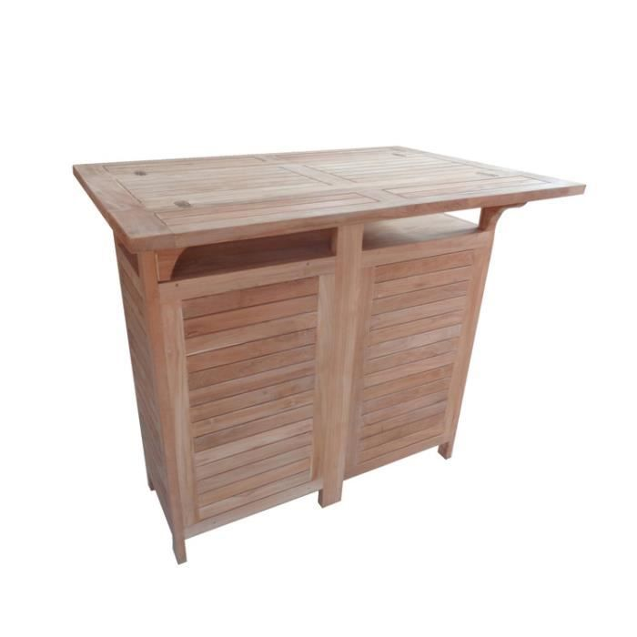 Table de bar jardin 120x70cm cante achat vente table for Achat table bar