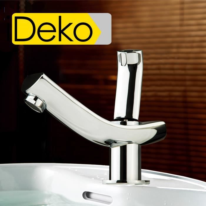 ideko robinet mitigeur lavabo cascade haut bec salle de bain design moderne en laiton c ramique. Black Bedroom Furniture Sets. Home Design Ideas