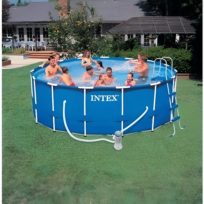 Piscine tubulaire intex x m achat vente kit for Montage piscine intex