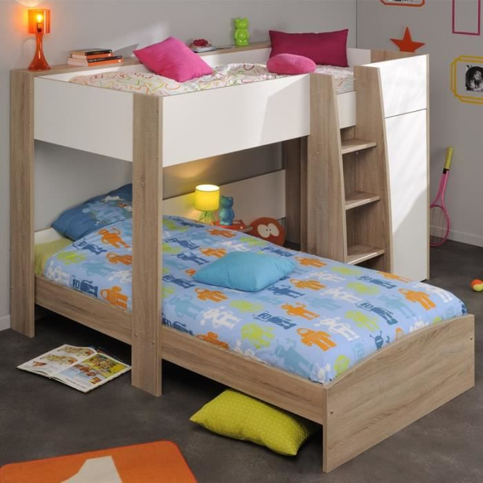 paris prix lit superpos enfant cosmo beige achat. Black Bedroom Furniture Sets. Home Design Ideas