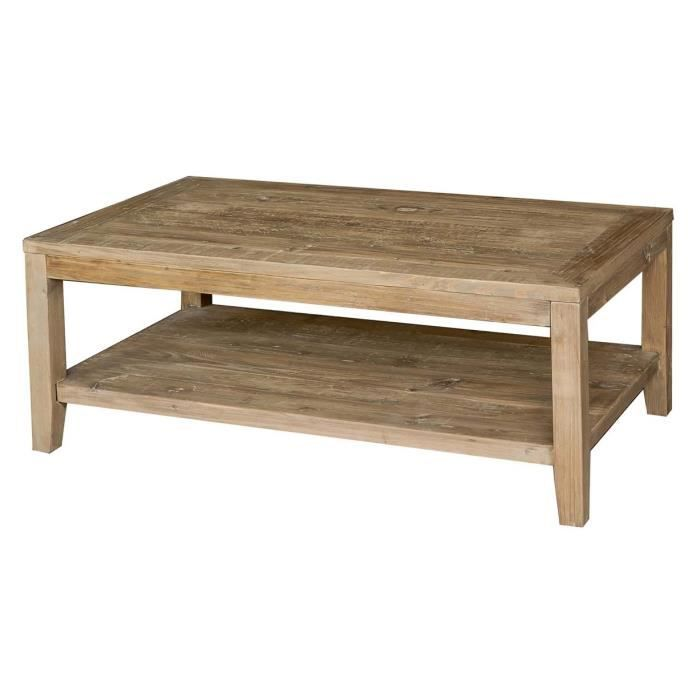 Table basse en bois pin naturel slone achat vente for Table basse en bois naturel