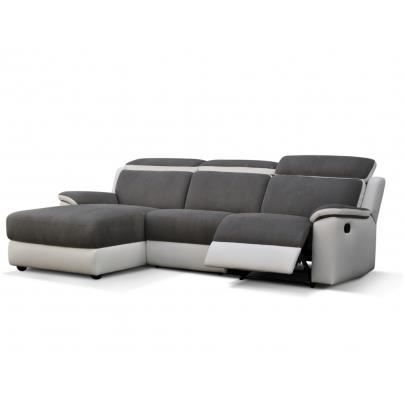 Canape relax gris clair - Canape angle relax microfibre ...
