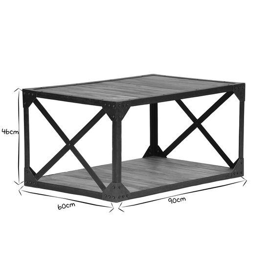 Miliboo Table Basse Bois Massif Et Métal Industrielle Atelier