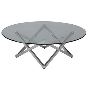 TABLE BASSE Tessie - Table Basse Ronde Gris
