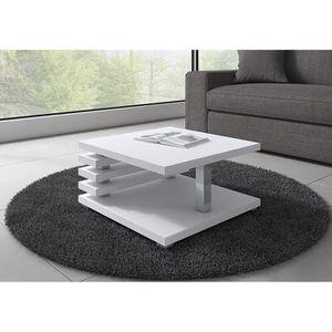 TABLE BASSE Table Basse Oslo 60x60cm Blanc Mat