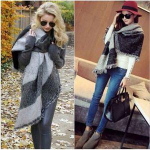ECHARPE - FOULARD Épais de hiver nouvelles femmes laine chaude Stole
