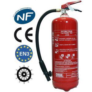 EXTINCTEUR Extincteur 6 Kg poudre NF + support fixation + Pan