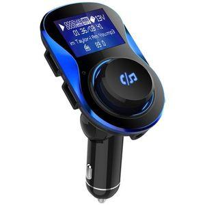 Kit Main Libre pour Voiture Adaptateurs sans Fil Appels avec 2 Ports USB Chargeur Auto de Lecteur de Musique QC 3.0 Charge Rapide VICTSING Transmetteur FM Bluetooth 4.2