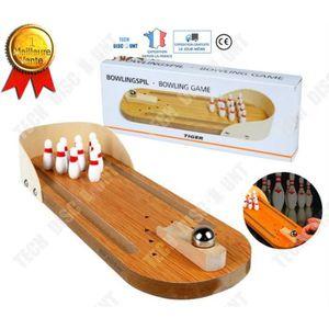 QUILLE DE BOWLING TD mini bowling en bois avec jeu de piste enfants