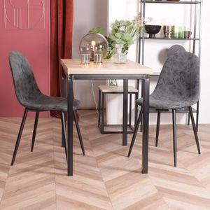 CHAISE Lot de 2 Chaises avec pieds en métal - Scandinave
