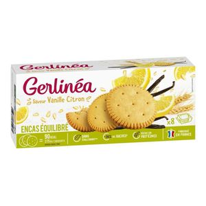 BISCUITS SECS GERLINEA Biscuits saveur vanille et citron - 156 g