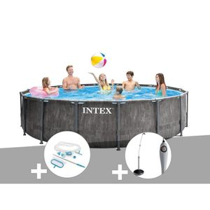 PISCINE Kit piscine tubulaire Intex Baltik ronde 5,49 x 1,