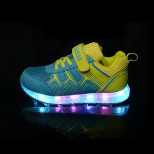 Startrip Chaussures Led Pour Enfant Allumé Lumineuse Sneakers Espace Cuir