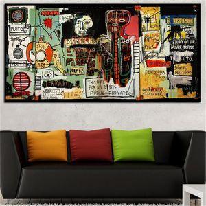 TABLEAU - TOILE Home Décor Peinture à l'huile Jean Michel Basquiat