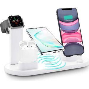 CHARGEUR TÉLÉPHONE 4 en 1 Usb Chargeur Rapide sans fil Qi pour Apple
