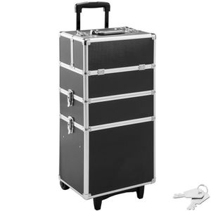 VALISE - BAGAGE TECTAKE Malette Maquillage à Roulette 35 cm x 25 c