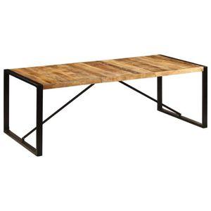 TABLE À MANGER SEULE vidaXL Table de salle à manger 220x100x75 cm Bois