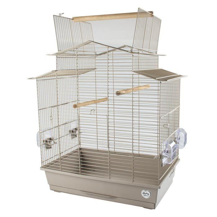 LAROY DUVO Cage pour oiseaux Mocha Iza 3 - 58 x 38 x 65 cm - Moka