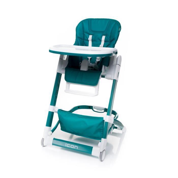chaise haute très tendance HICON cuir écologique - max 15 kg 55 Turquoise Foncé