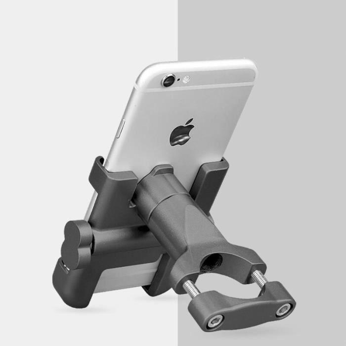 Universel en alliage d'aluminium Moto Support de téléphone Support téléphone Moto Support pour GPS vélo guidon Support -EZPTESA09031