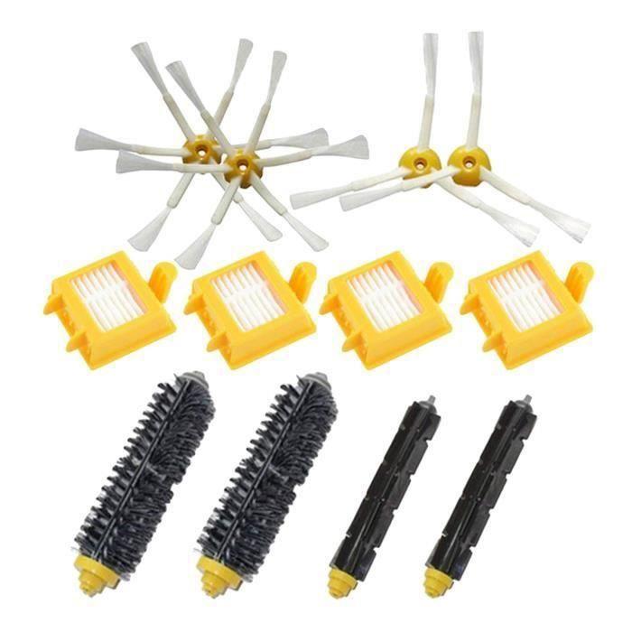 Brosse laterale + filtre + brosse a poils de pieces de rechange pour iRobot Roomba 700 Series Accessoires d'aspirateurs Robots 7