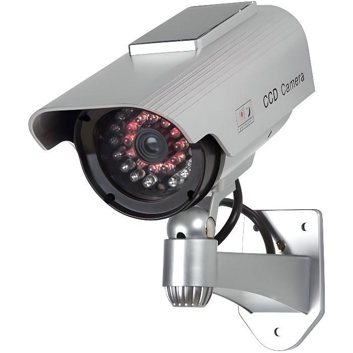 Camera factice avec LEDs IR et panneau solaire