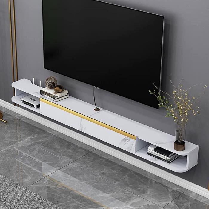 meuble télé urale lowboard,Suspendu Meuble TV Grande Capacité,Banc TV flottant Simple D'Appartement éTroit Et Petit-A - 120cm A32