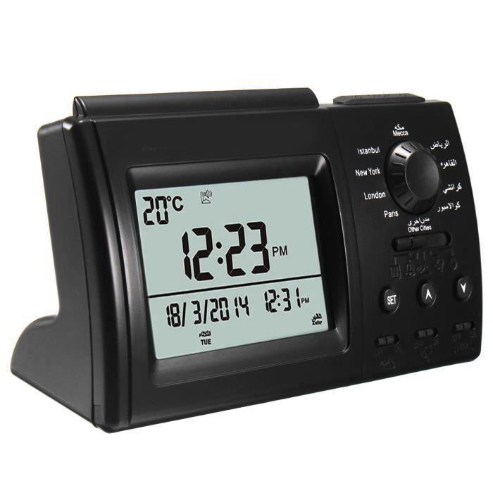 NEUFU Horloge Ramada Numérique Automatique islamique Azan musulman Prière Alarme Adhan Table