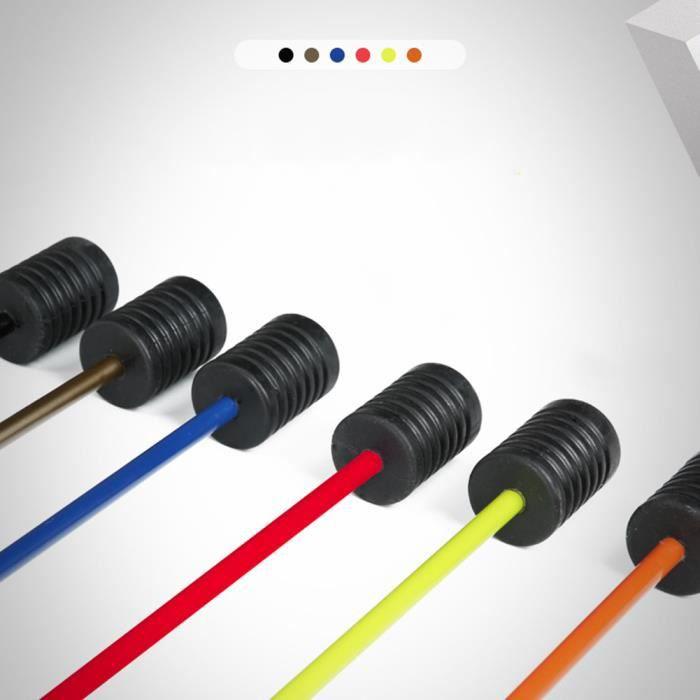 Détachable Fitness Pole Yoga Exercice Elastic Rod Gym Stick Elasticity Arm Noir Longueur totale 1600 mm