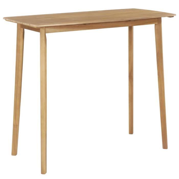 NEW&5654Parfait Table de jardin Pour 2-4 Personnes Table de bar Haute Design Scandinave Décor - Mange-Debout 120x60x105 cm Bois d'ac