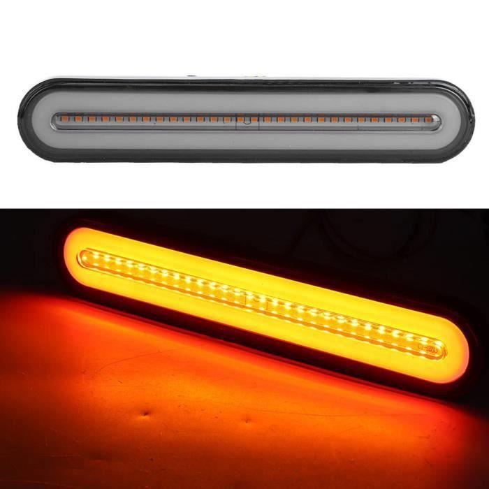 HURRISE lumière LED 100LED 3 en 1 feu arrière étanche clignotant indicateur de frein feu d'arrêt 12V-24V jaune + rouge