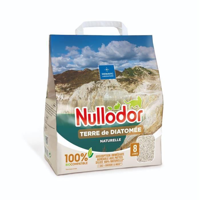 NULLODOR Litière Terre de diatomée par DEMAVIC - 8 L - 3,8 kg