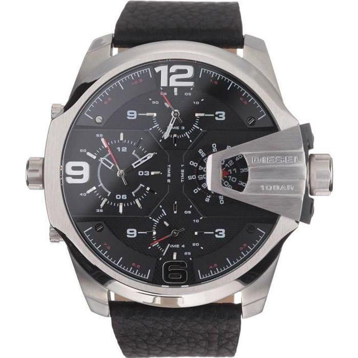 DIESEL Montre bracelet Homme DZ7376 - Chronograhe - Quartz - Analogique - Noir