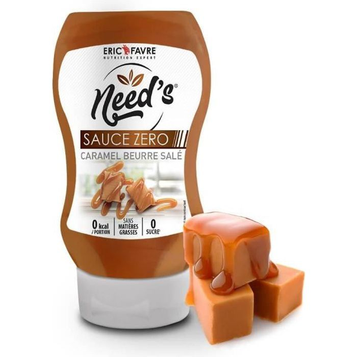 Need's Sauces Zero - Caramel beurre salé - Eric Favre