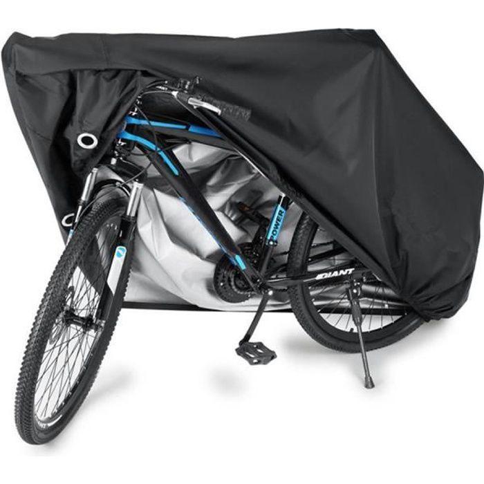 Housse pour Vélo, Housse de Protection pour Vélo Imperméable Anti-UV Protection Poussière Résistant, 200x70x110cm, Noir