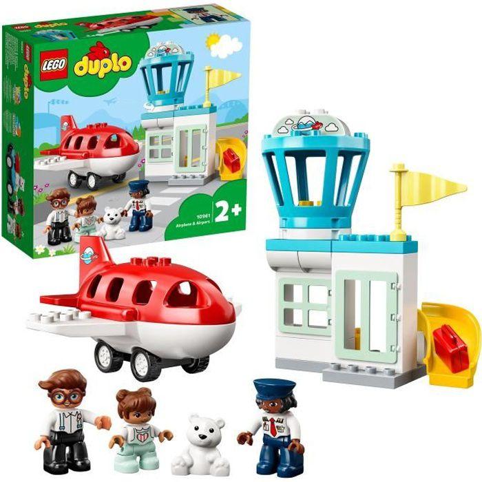 LEGO® 10961 DUPLO® Town Avion et aéroport Jouet Enfant 2 ans avec Figurine de Pilote