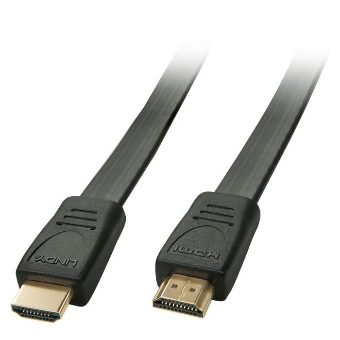 LINDY Câble HDMI High Speed plat - 1m