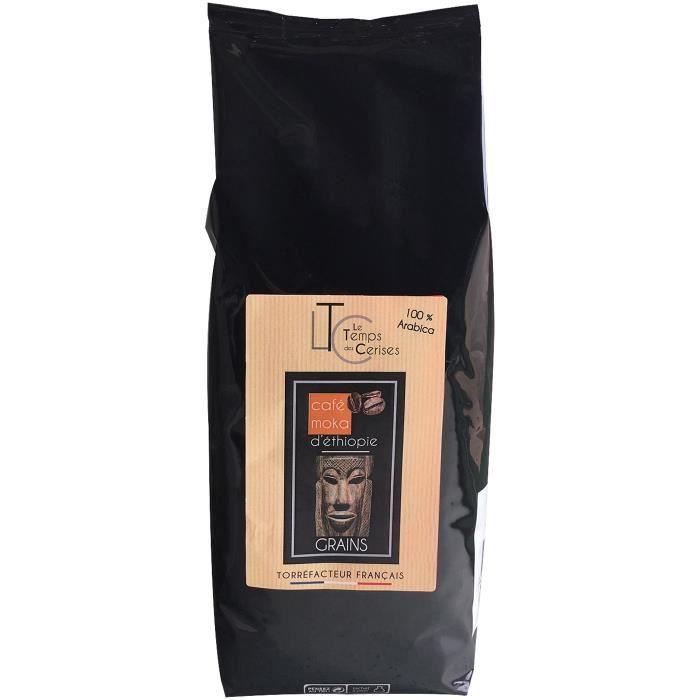MAISON TAILLEFER Café moka d'Ethiopie en grains - 100% Arabica - 1 kg