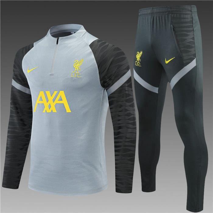 Maillot Foot NIKE Liverpool 2021 2022 Survêtements Foot Homme Enfants Nouveau - Gris