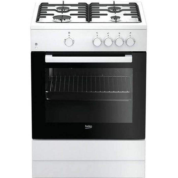 Plaques de cuisson Joli cuisiniere a gaz beko 218971 fsg62000dwl 64 l 60 cm