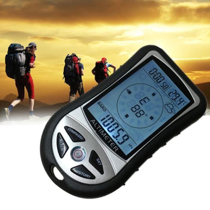 1Pc boussole outil durable baromètre altimètre pour voyage Camping KIT DE SURVIE - NECCESSAIRE DE SURVIE RANDONNEE - TREK