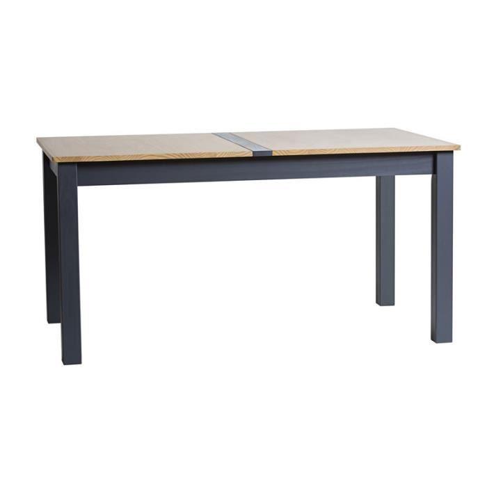 Table de repas Gris anthracite et Bois - EMIE n°1 - L 150 x l 85 x H 75