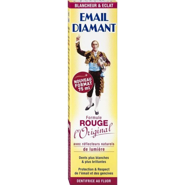 EMAIL DIAMANT Dentifrice Formule Rouge Tube 75 ml