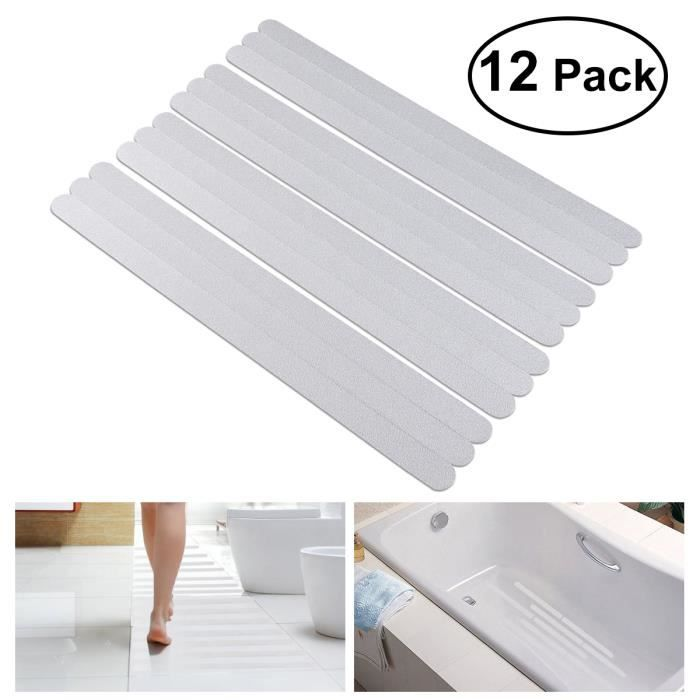 Ounona 12/pcs antid/érapant Bandes Stickers pour bain//douche Blanc